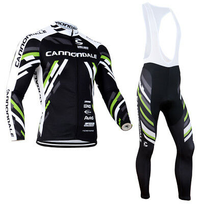 Completo Invernale/Cycling Jersey and pants Team Cannondale Black Thermal Winter