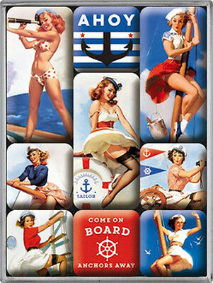 Magnet-Set - Pin Up Ahoi, 9-teilig