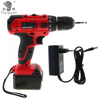 110-220V Cordless 21V Electric Drill Screwdriver with Li-ion Battery for Screws