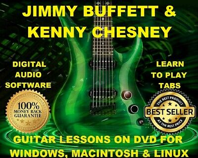 JIMMY BUFFETT 207 & Kenny Chesney 171 Guitar Tabs Software Lesson CD ...