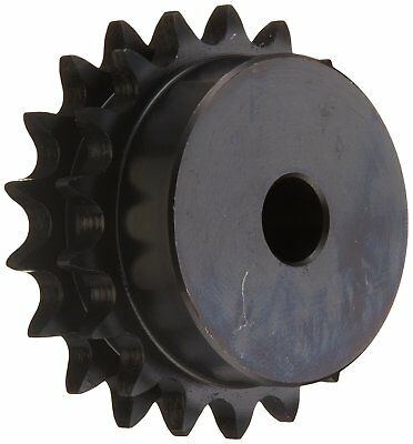 "Browning D50B18 Minimum Bore Double Roller Chain Sprocket, 3/4"", 18 Teeth"