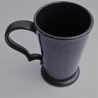 'Prinknash' Pottery Lustre ware Large Tankard in Gunmetal grey colour