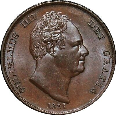 1831 Copper Penny, William IV. Uncirculated . Choice.