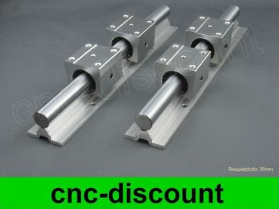CNC Set 16x 550mm Linearführung Linear Guide Rail Stage 3D