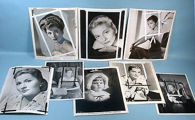 1947-1964 Joan Fontaine 16 Original Press File Photos Alfred Hitchcock Actress