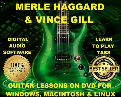 Merle Haggard 309 & Vince Gill 86 Guitar Tabs Software Lesson CD 59 Backing Trax