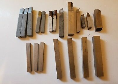 Lot of (20) Assorted Lathe Cutters Tool Bit Machinist Metal Lathe Mill