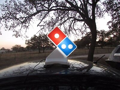 Domino's Pizza Car Topper Delivery Sign Magnetic With Power Cord