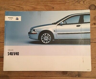 2001 2004 volvo s40 v40 owners handbook manual 9 99 picclick uk rh picclick co uk Volvo S90 2007 Volvo S40