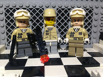 Lego Star Wars Lot of 3 Rebel Snowtrooper Minifigures w/ Blasters Hoth RETIRED!+