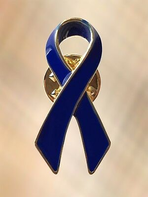 NEW Blue Ribbon Colon Cancer Free Speech Child Abuse Awareness Lapel Pin Brooch