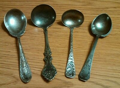 Antique Silver Plate Serving Spoons, Mixed Lot of 4