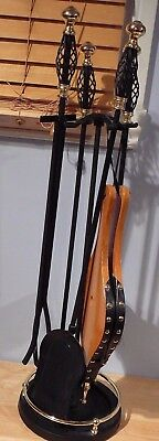 Fireplace tool set Black Wrought iron fireplace tools twist handles Bellows