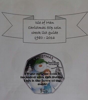 Isle of Man Christmas 50p Coin  collecting guide  with prices & die marks noted