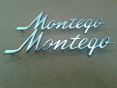 1968-1971 Ford Mercury Montego Original Rear Side Script Quarter Panel Emblems