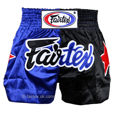 Fairtex Muay Thai Shorts Classic Blue Black BS84 Thai Boxing Kickboxing Striking