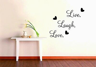 Live Laugh Love heart Wall Sticker Removable Kids Home Decor Room Decals