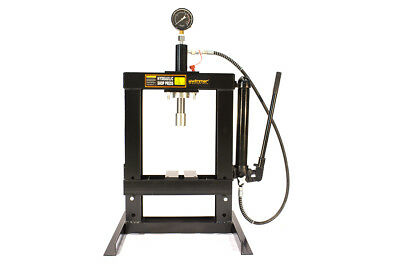 """10 Ton Shop Press Bench Tool with Hand Pump H-Frame Hydraulic Equipment 14"""""""