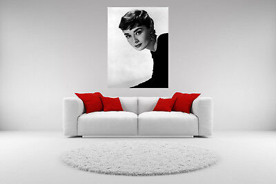 Audrey Hepburn Canvas Vintage Giclee Print Picture Unframed Home Decor Wall Art