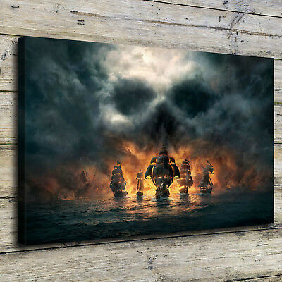 Skull and Bones Poster HD Print on Canvas Home Decor Room Wall Art Picture