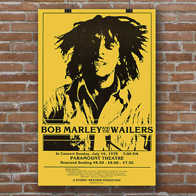 """Bob Marley /""""Herb Is The Healing/"""" Quote Poster Print 7/""""x21/"""" On Matte Canvas"""