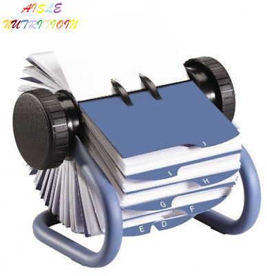 Rolodex Open Rotary Business Card File with 200 2-5/8 by 4 inch Sleeves and...