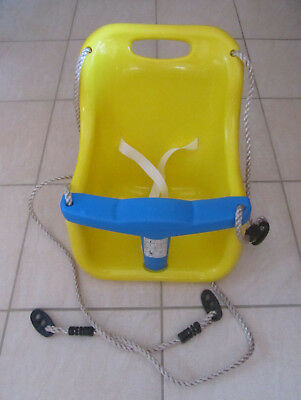 Outdoor Plastic 'T' Baby Toddler Childrens Swing Seat - Yellow