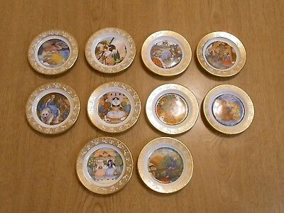 franklin porcelain the best loved fairy tales collector mini plates lot of 11 pc