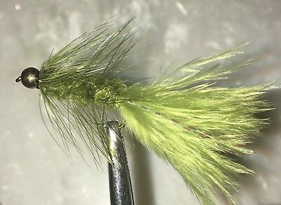 Woolly Bugger - Trout Fly Fishing Wet Flies - Olive 6 Flies X Size #12