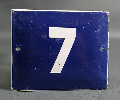 Wwii German Door House Street Porcelain Enamel Tin Sign Plate Plaque Number #7