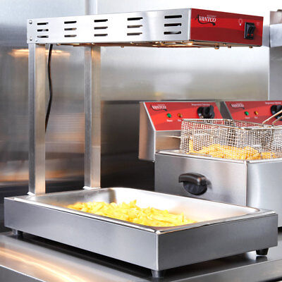 Advantco French Fry Fryer Warmer Dump Station Heat Lamp Countertop Commercial