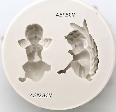 Angel Boy Fairy Cake Fondant Silicone Mold Soap Polymer Clay Silicon Mould