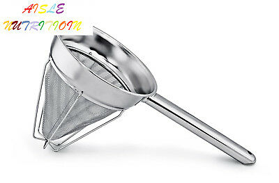 New Star Foodservice 38071 Chinois Mesh Strainer, Stainless Steel,...
