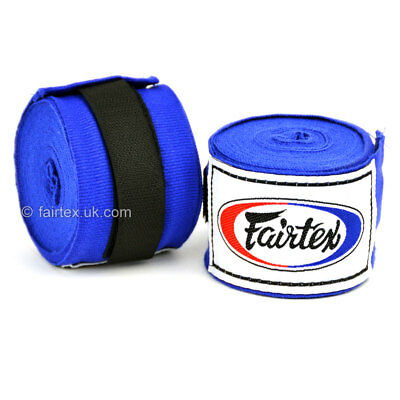 Fairtex Hand Wraps 4.5M Blue HW2 Stretch Boxing Muay Thai Kickboxing Striking