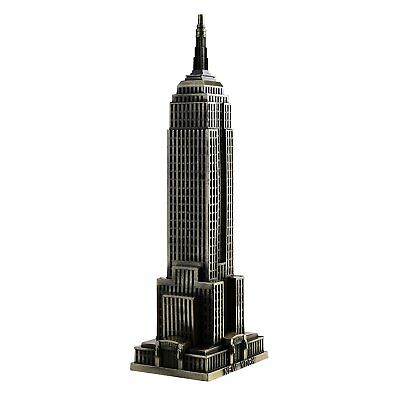 Kloud City Vintage Bronze 7 Inch New York Statue of Empire State Building Model