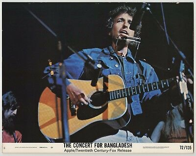 CONCERT FOR BANGLADESH - original film / movie poster (lobby card) - Bob Dylan
