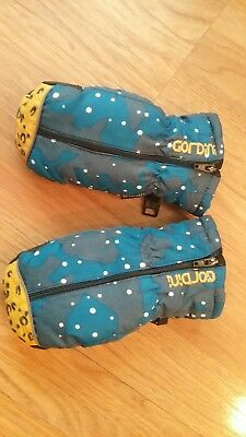 Gordini Easy-On Toddler Kids Blue Insulated Gloves Mittens size m