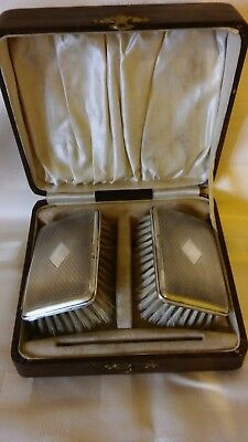 Gents Silver Hairbrush Set Chester 1927