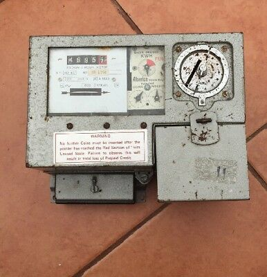 RARE VINTAGE LANDLORDS ALBERICE  ELECTIC COIN METER TAKES 10p
