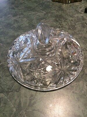 """Star of David / EAPC Large 7"""" Candy Dish LID ONLY by Anchor Hocking Glass Co"""