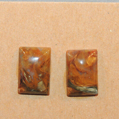 Pietersite Square Cabochon 10x14mm with 5mm dome set of 2 (13155)