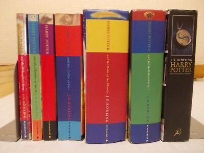 full complete set Harry Potter books paperback and hardback First edition