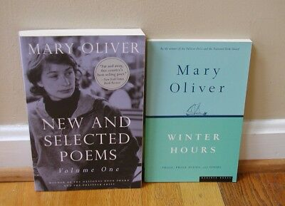LIKE NEW Mary Oliver poetry poems essays Winter Hours & New Selected LOT BOOKS