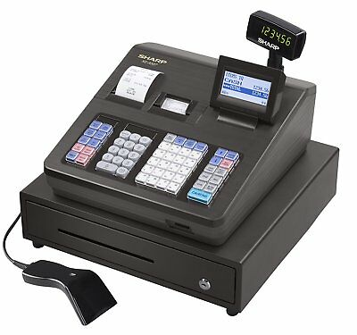 Sharp XE-A507 Cash Register with Bar Code Scanner and Dual Receipt