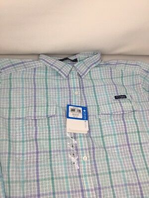 $60 Women's 3x Columbia PFG Vented Outdoors Short Sleeve Shirt NWT