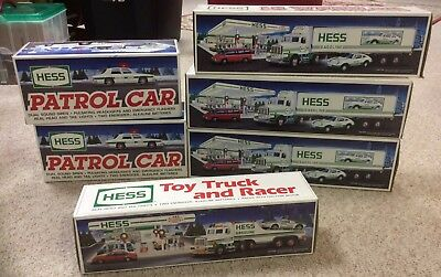 1991-1993 lot of HESS Trucks in original boxes (6 total)
