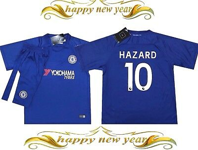 Eden Hazard Football Kit- Jersey Chelsea FC 2017-2018 home for Kids High Quality