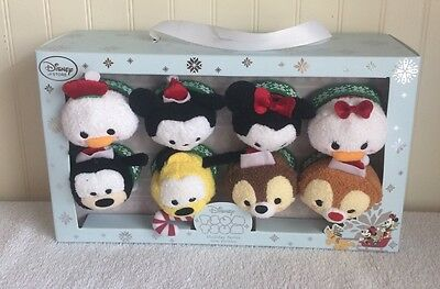 Disney Christmas Holiday Tsum Tsum Collector 2015 Boxed Set 8 Mini Mickey Minnie