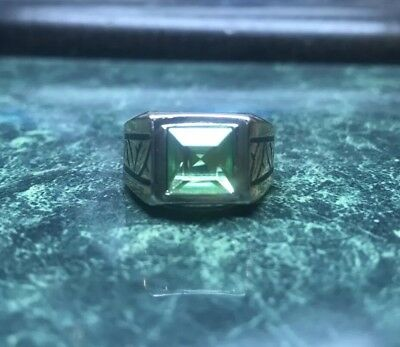 Mens Gold Ring Fine Jewelry Stone Ring Gold Electroplated Engraved With Gemstone