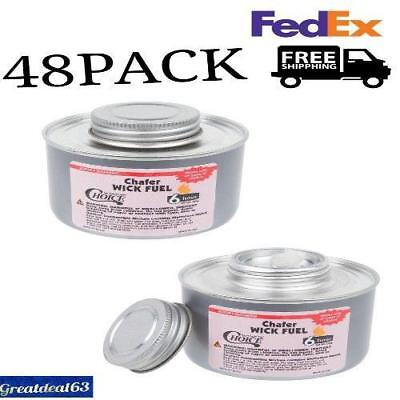 48 Pack Choice 6 Hour Wick Chafing Dish Fuel Can 6.9oz Chafer buffet food Warmer